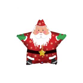 18 inch Foil Mylar Santa Claus Star Shape Balloon
