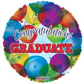 18 inch Congratulations Graduate Circle Foil Balloon