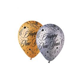 12 inch CTI Happy New Year Around Latex Balloons - 50 count