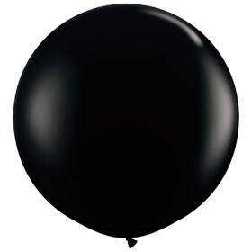 36 inch Tuf-Tex Round Latex Balloons - Crystal Black