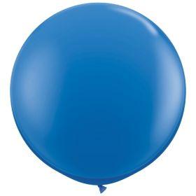 36 inch Tuf-Tex Round Latex Balloons - Standard Blue