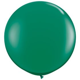 36 inch Tuf-Tex Round Latex Balloons - Crystal Emerald Green