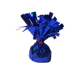 120 Gram Foil Covered Balloon Bouquet Weight Blue - 6 count