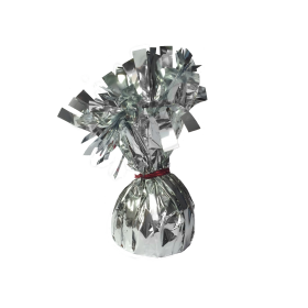 120 Gram Foil Covered Balloon Bouquet Weight Silver - 6 count