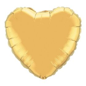 18 inch Gold Heart Foil Balloons