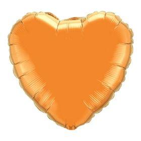 18 inch Orange Heart Foil Balloons