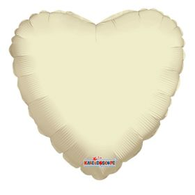 18 inch Ivory Heart Foil Balloons