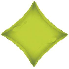 18 inch Lime Green Diamond Foil Balloons