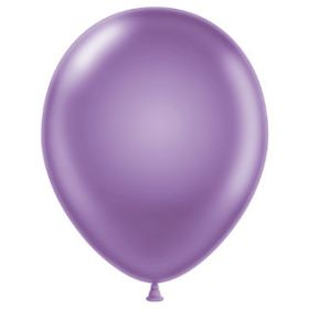 11 inch Tuf-Tex Latex Balloons - Pearl Lilac - 100 count