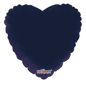 18 inch Navy Blue Heart Foil Balloons