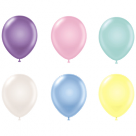 11 inch Tuf-Tex Latex Balloons - Pastel Assorted - 100 count