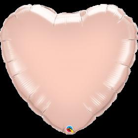 Qualatex 36 inch Rose Gold Heart Foil Balloons