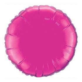 18 inch Magenta Circle Foil Balloons