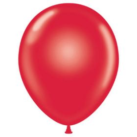 11 inch Tuf-Tex Latex Balloons - Crystal Ruby Red - 100 count