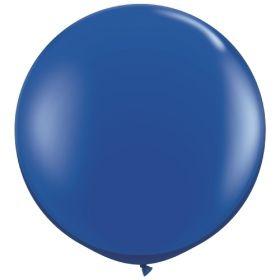 36 inch Tuf-Tex Round Latex Balloons - Crystal Sapphire Blue