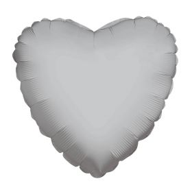 18 inch Silver Heart Foil Balloons