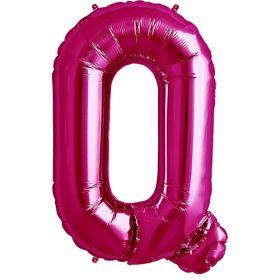 34 inch Magenta Letter Q Foil Mylar Balloon