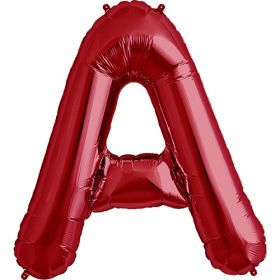 34 inch Red Letter A Foil Mylar Balloon