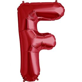34 inch Red Letter F Foil Mylar Balloon