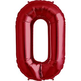 34 inch Red Letter O Foil Mylar Balloon