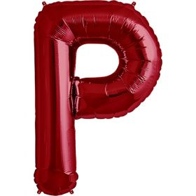 34 inch Red Letter P Foil Mylar Balloon