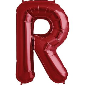 34 inch Red Letter R Foil Mylar Balloon