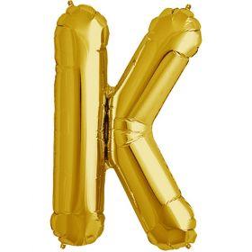 34 inch Kaleidoscope Gold Letter K Foil Mylar Balloon