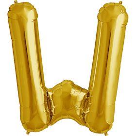34 inch Kaleidoscope Gold Letter W Foil Mylar Balloon
