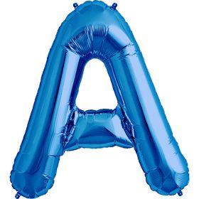 34 inch Kaleidoscope Blue Letter A Foil Balloon