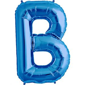 34 inch Kaleidoscope Blue Letter B Foil Balloon
