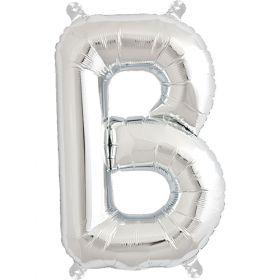 16 inch Northstar Silver Letter B Foil Mylar Balloon