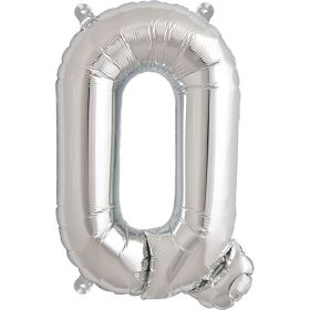 16 inch Silver Letter Q Foil Mylar Balloon