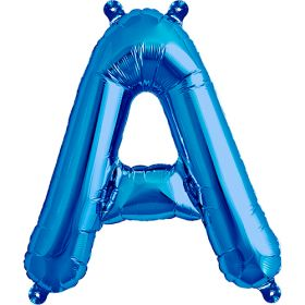 16 inch Blue Letter A Foil Mylar Balloon