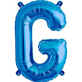 16 inch Northstar Blue Letter G Foil Mylar Balloon
