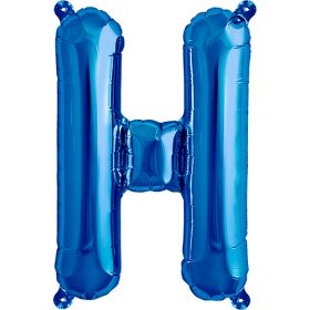 16 inch Northstar Blue Letter H Foil Mylar Balloon