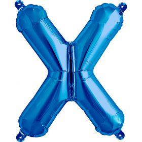 16 inch Northstar Blue Letter X Foil Mylar Balloon