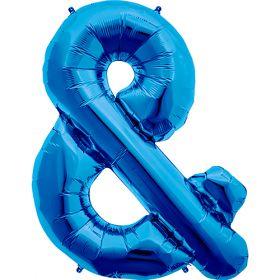 34 inch Northstar Blue Ampersand Symbol Foil Balloon