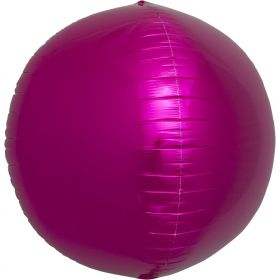 17 inch Northstar Magenta Sphere Foil Balloons