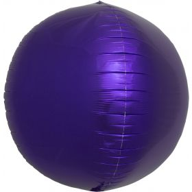 17 inch Northstar Purple Sphere Foil Balloons