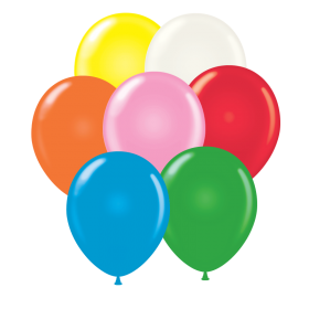 5 inch Tuf-Tex Assorted Standard Latex Balloons - 50 count