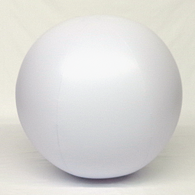 4 foot White Vinyl Display Ball