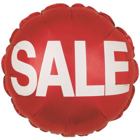 "18"" Foil Mylar Red Circle Sale Balloon"