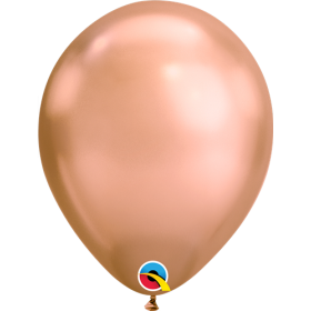 7 inch Qualatex Chrome Rose Gold Latex Balloons - 100 count