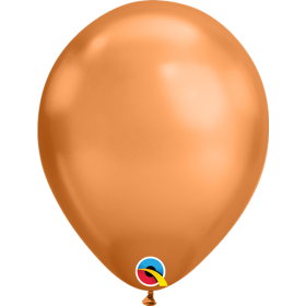 7 inch Qualatex Chrome Copper Latex Balloons - 100 count