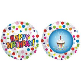 31 inch Happy Birthday Treat Circle Shape Balloon