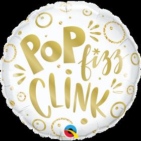 18 inch Qualatex Pop Fizz Clink Foil Balloon - Packaged