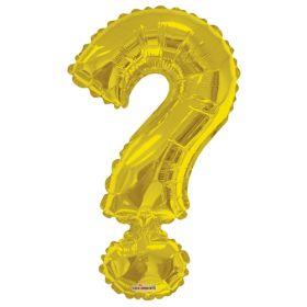 34 inch Gold Kaleidoscope Question Mark Symbol Foil Balloon