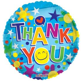 18 inch Thank You Smiley Foil Mylar Circle Balloon