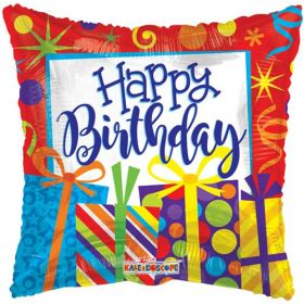 18 inch Birthday Presents Foil Mylar Square Balloon - Flat