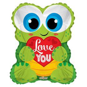 18 inch Love You Turtle Shape Foil Mylar Balloon